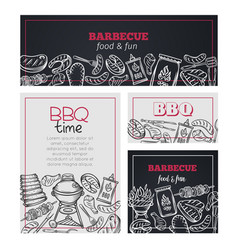 barbecue time banners vector image
