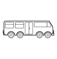 Big bus icon outline style vector