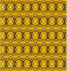 Black lace pattern with yellow squares vector image