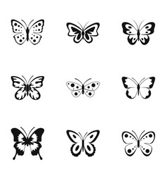 Bombyx icons set simple style vector