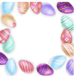 border from easter eggs vector image
