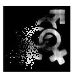 Bright dissipated dot halftone double mistress vector