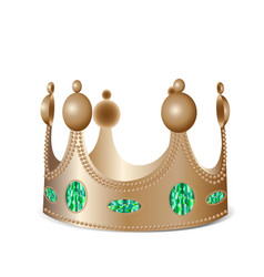 Bronze crown with gems vector