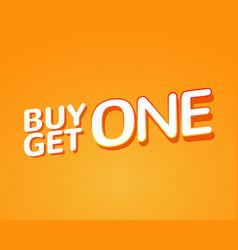 Buy 1 get 1 free sale poster banner design vector