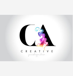 Ca vibrant creative leter logo design with vector