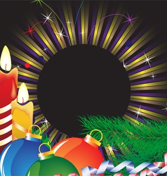 Christmas candles and bright tinse vector