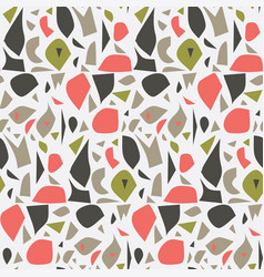 colorful terrazzo pattern vector image