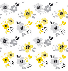 Contemporary spring floral seamless pattern vector