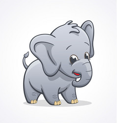 Cute infant elephant character baby vector