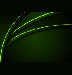 dark green corporate background with glow neon vector image vector image