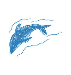 dolphin hand painted vector image