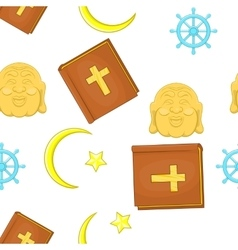 Faith pattern cartoon style vector