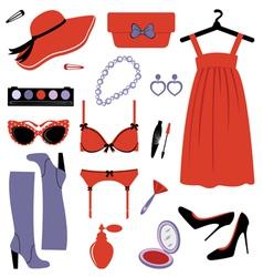 Fashion set elegance vector image