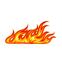 Fire flames with bright orange blazing tongues vector