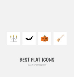 Flat icon festival set of gourd superstition vector