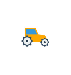 Flat icon tractor element of vector
