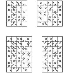 four vignette puzzles vector image