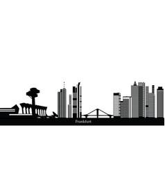Frankfurt city skyline vector