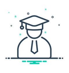 Graduate hat vector