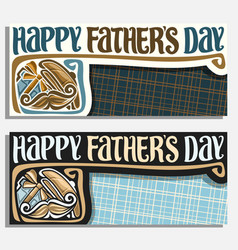 greeting cards for fathers day vector image