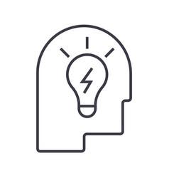 idea in head linear icon sign symbol on vector image