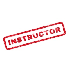 Instructor Text Rubber Stamp vector