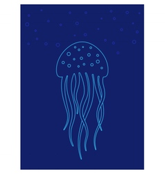 Jellyfish under water Marine life vector