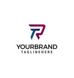 letter tr logo design concept template vector image