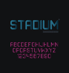 linear uppercase font vector image