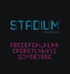 Linear uppercase font vector