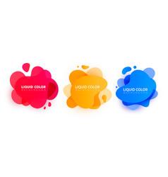 liquid color background design set vector image
