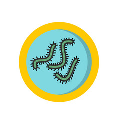Lot of bacteria icon flat style vector