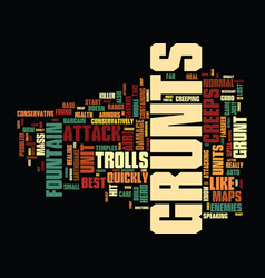 Mass grunts and trolls text background word cloud vector