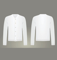 Men white cardigan vector