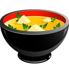 Miso soup vector