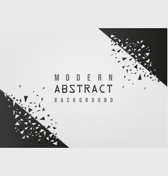 modern abstract geometric white background vector image