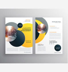 Modern yellow geometric flyer poster design vector