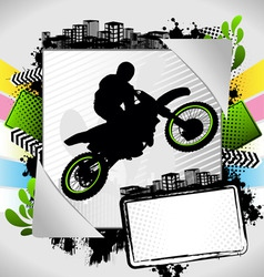 motorcyclist summer frame vector image
