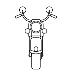 motorcyle speed transport steel outline vector image