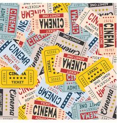 movie ticket in vintage style vector image