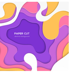 multicolored abstract layout - paper cut vector image