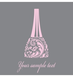 Nail polish made from the leaf pattern EPS10 vector image