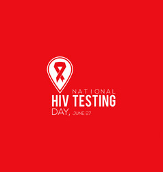 national hiv testing day vactor banner observed vector image
