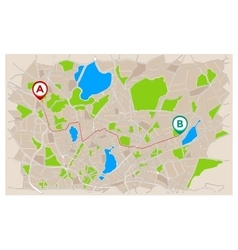 Navigation map with tracking path vector