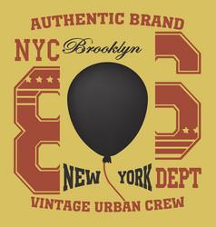 Ny t-shirt ballon vector