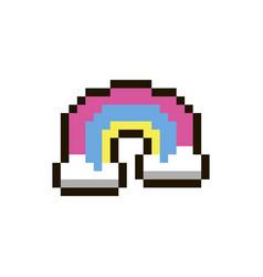 pixel rainbow vector image