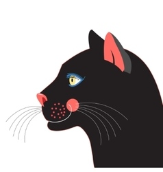 Portrait Black panther vector