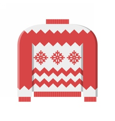 Red Winter Sweater vector