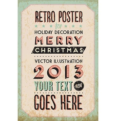 Retro vintage happy new year background vector
