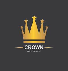 Royal crown logo icon vector